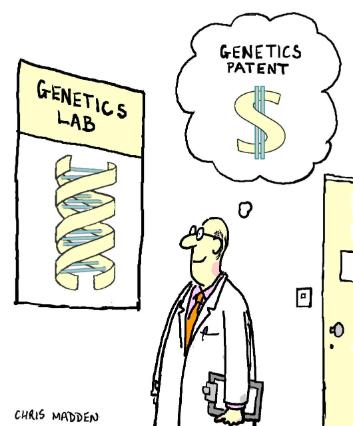 Decoding dna translating the blueprint of life although humorous the cartoon above presents a serious issue with gene patenting will it lead to a money driven drive for patenting genes malvernweather
